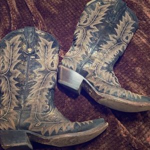 Corral black with gold boots